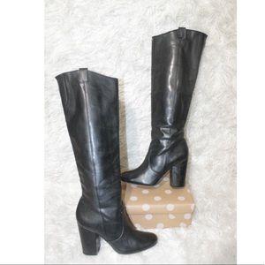 Sam Edelman Tucker Heel Knee High Zip Up Boots